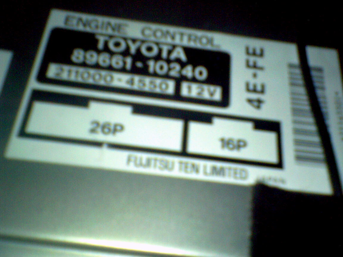 would anyone know where i can get the pinout diagram for a uk toyota  startlet 4EFE ECU?